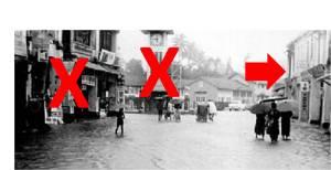 Tanda X adalah dua mercu sejarah yang telah diruntuhkan sekitar 1970/80an. Kini tanda panah pula yang ingin dibobohkan